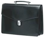 Samsonite OP1-09-002 Manager (натуральная кожа,черная, 40x35x12см)