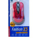 Мышь A4-Tech Fashion X5 Shining Optical Mouse OP-50-Red(2) USB/PS/2
