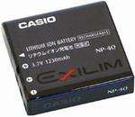 Аккумулятор Casio NP-40 (для Exilim EX P600/Z40/Z30 3.7V , 1230mAh Li-Ion)