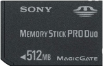 Sony Memory Stick Pro DUO 512 Mb (MSX-M512S)