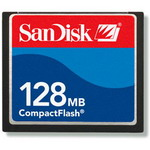 SanDisk CompactFlash 128Mb