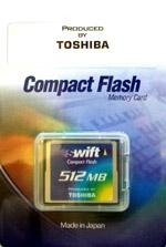 Toshiba CompactFlash SWIFT 512 Mb