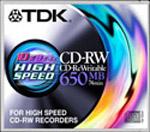 CD-RW TDK 650Mb 10x