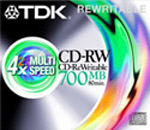 CD-RW TDK 700Mb 4x