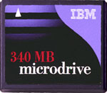 IBM Microdrive 1.0 Gb DSCM-11000 CF