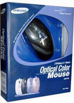 SAMSUNG Optical Color Mouse SOM3200-Black PS/2