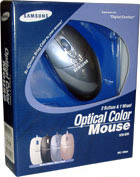 SAMSUNG Optical Color Mouse SOM3200-Blue PS/2