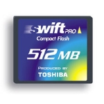 Toshiba CompactFlash SWIFT PRO 512 Mb HighSpeed (45x)
