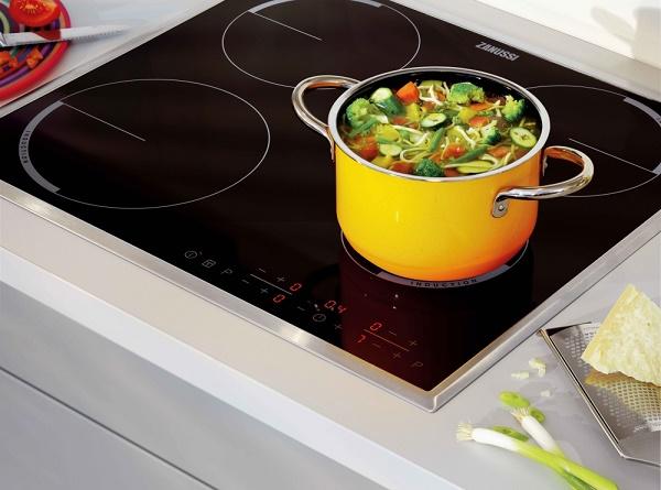 Положение посуды на плите