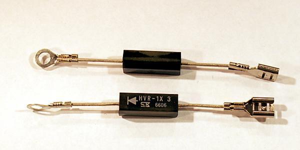 Высоковольтные конденсатор и диод