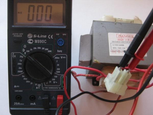 Проверка трансформатора