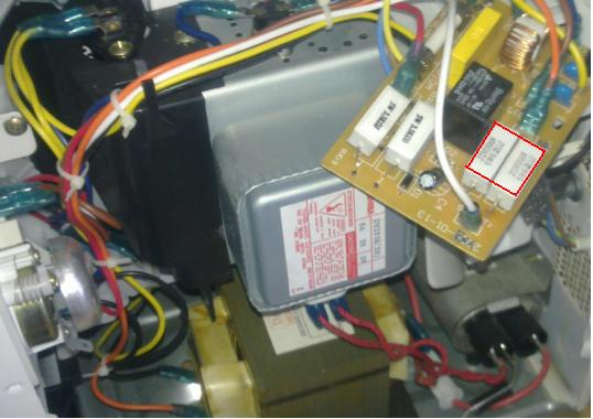 Блок управления микроволновки