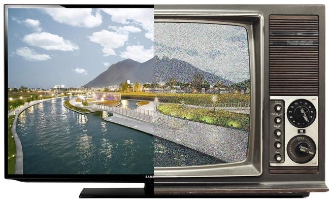 Современный и ламповый телевизор
