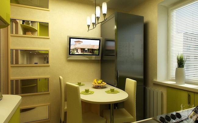 Маленький телевизор на кухне