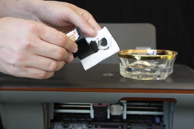 Печатающая головка и ватный диск