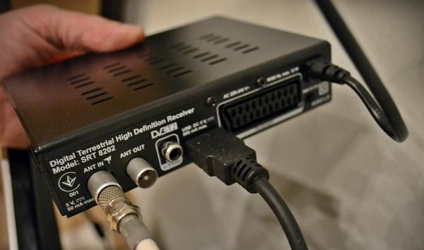 Подключение кабеля к тюнеру