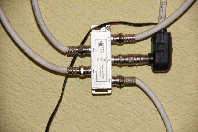 Подключение двух телевизоров к одной антенне