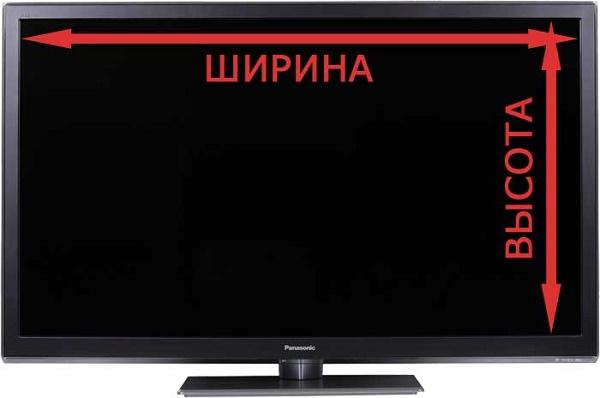 Замеры телевизора