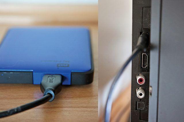Телевизор и жесткий диск