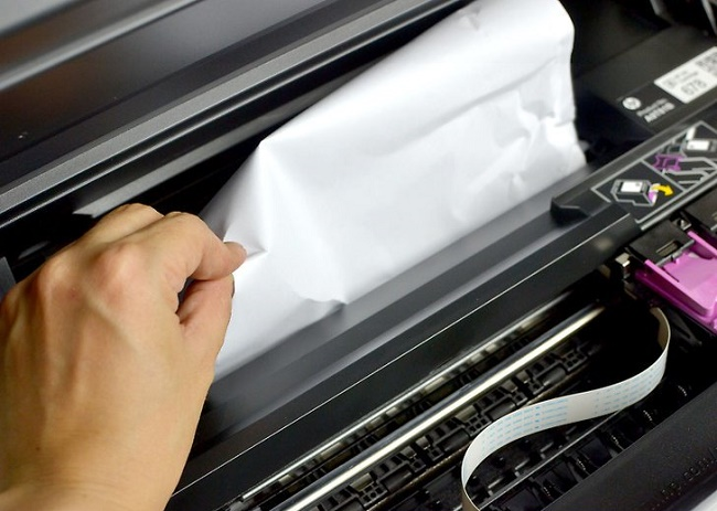 Принтер зажевал бумагу