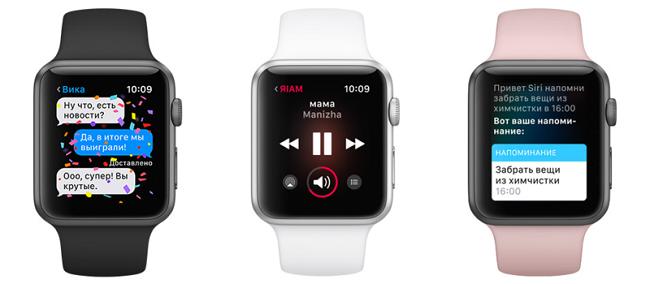 Возможности Apple Watch Series 1