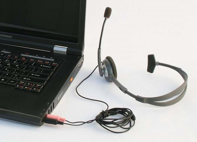 Подключение наушников к ноутбуку
