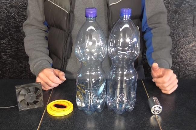 Пластиковые бутылки, мотор