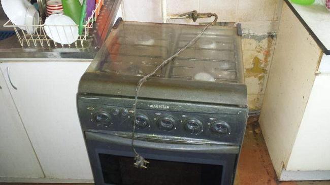 Демонтаж газовой плиты