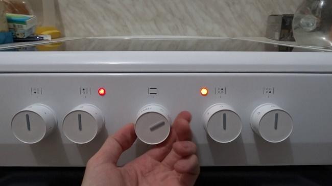 Включение электроплиты