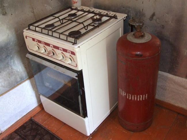 Баллон с газовой плитой