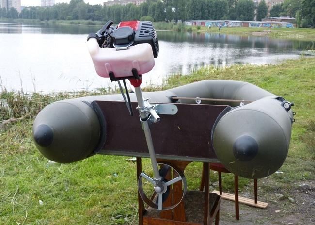 Триммер вместо лодочного мотора