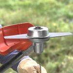 Как заменить нож на триммере