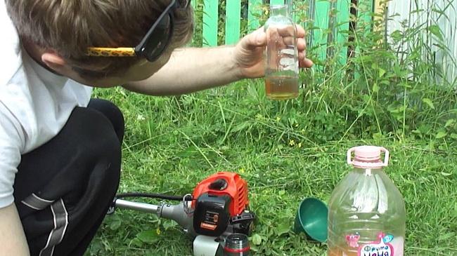 Подготовка бензотриммера